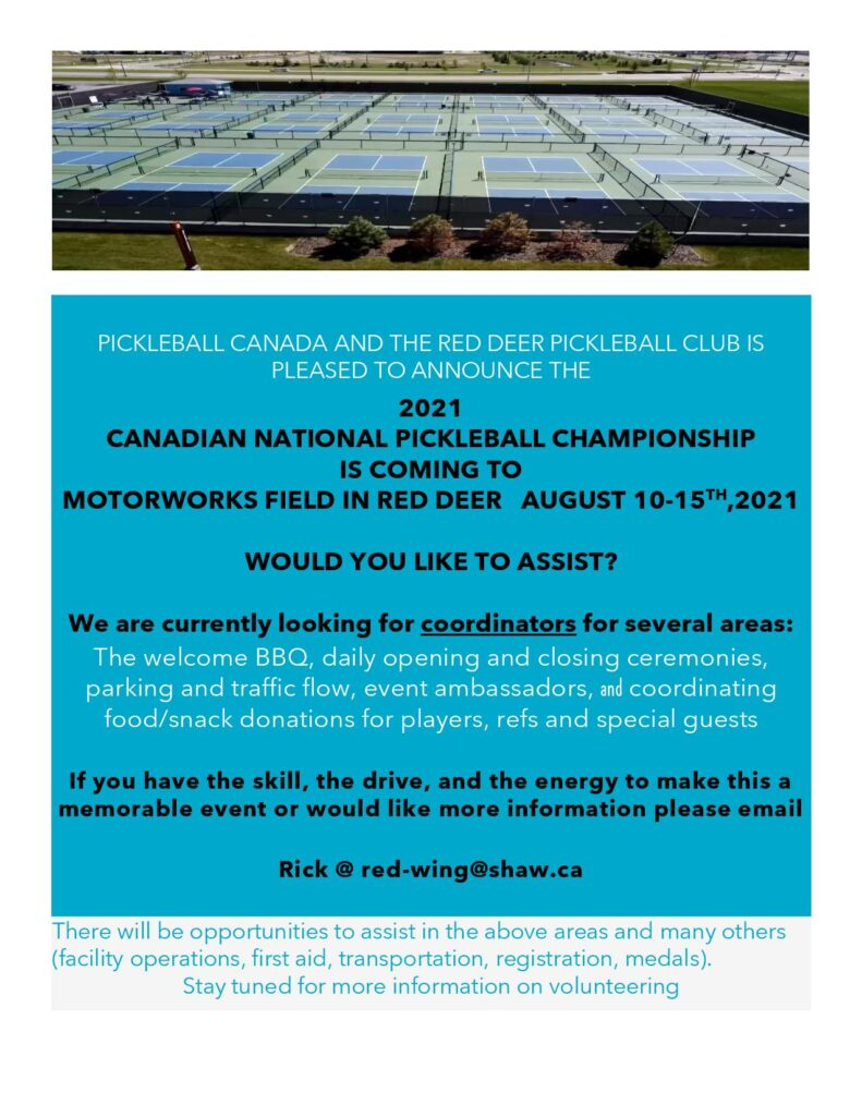 Volunteer for the 2021 Nationals