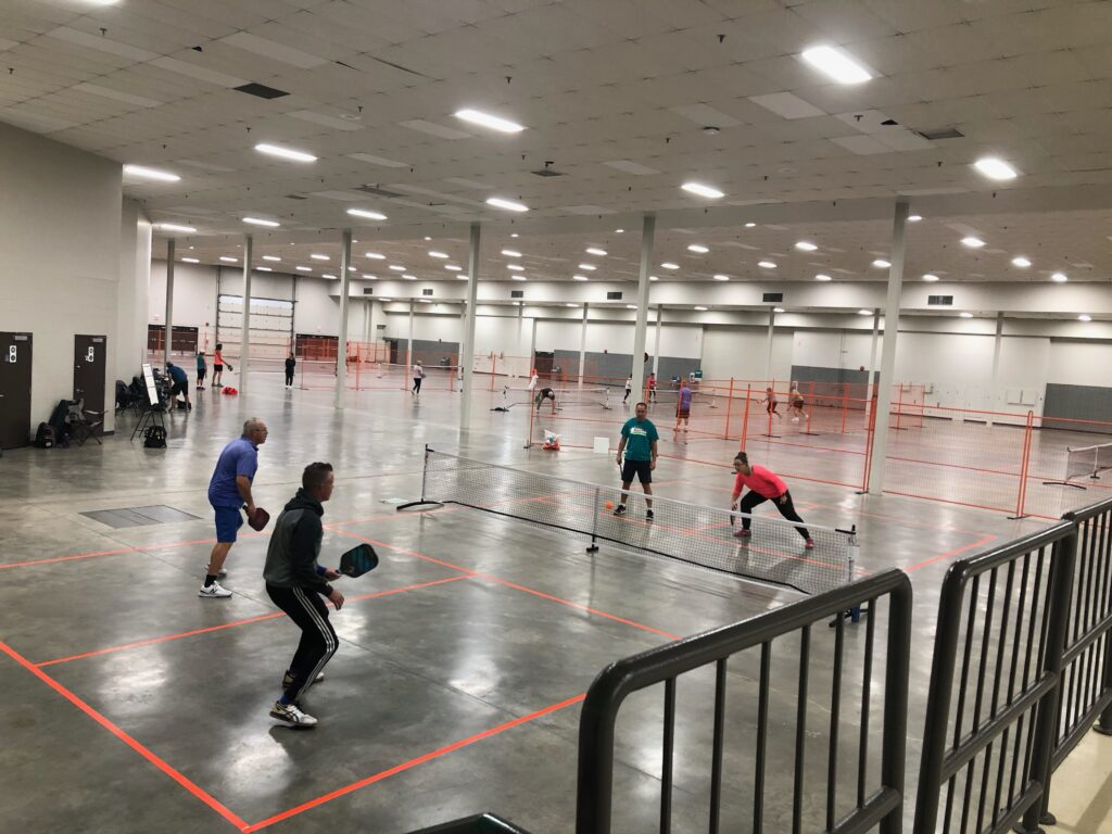 Indoor Red Deer Pickleball Plat at the Westerner